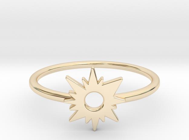 Sun Midi Ring in 14k Gold Plated Brass
