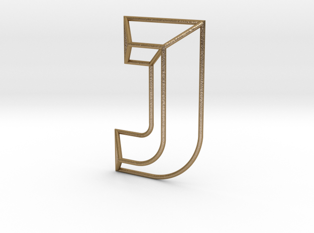 J Typolygon in Polished Gold Steel