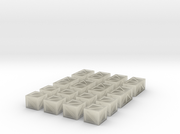 16 Crates for 6mm, 1/300 or 1/285 3d printed