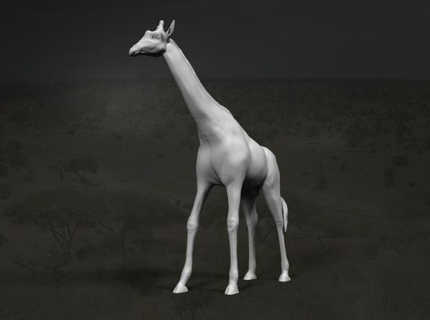 Giraffe 1:32 Standing Male in White Strong & Flexible