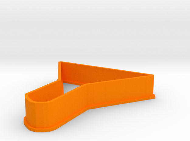 Funnel cookie cutter in Orange Processed Versatile Plastic