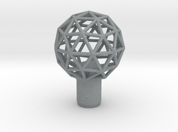 "Shift Knob Geodesic 12x1.25 2"" in Polished Metallic Plastic"
