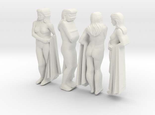 classic female statue 4 views in White Natural Versatile Plastic