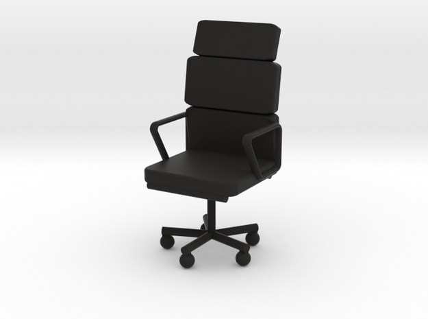Office Chair in Black Natural Versatile Plastic