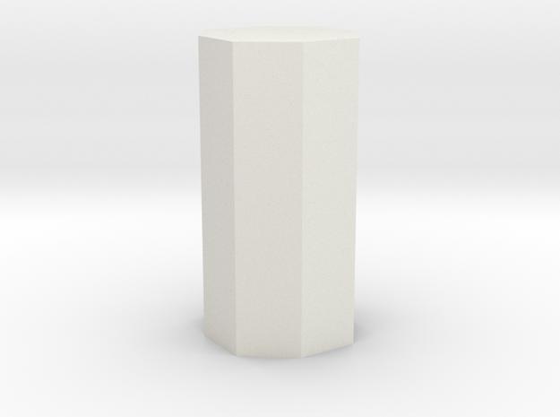 Ditetragonal prism in White Natural Versatile Plastic
