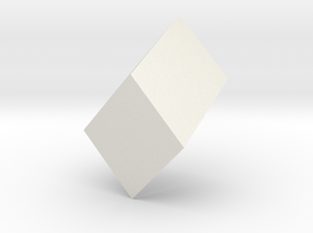Monoclinic prism in White Natural Versatile Plastic