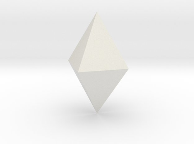 Tetragonal dipyramid in White Natural Versatile Plastic