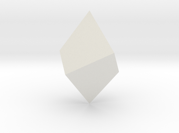 Trigonal trapezohedron in White Strong & Flexible