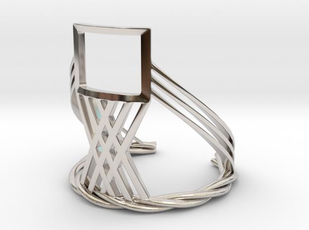 The Window (Bracelet) in Rhodium Plated