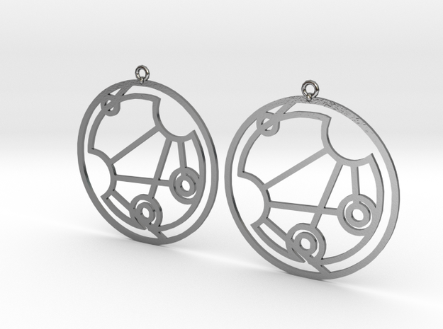 Genisus - Earrings - Series 1 in Polished Silver