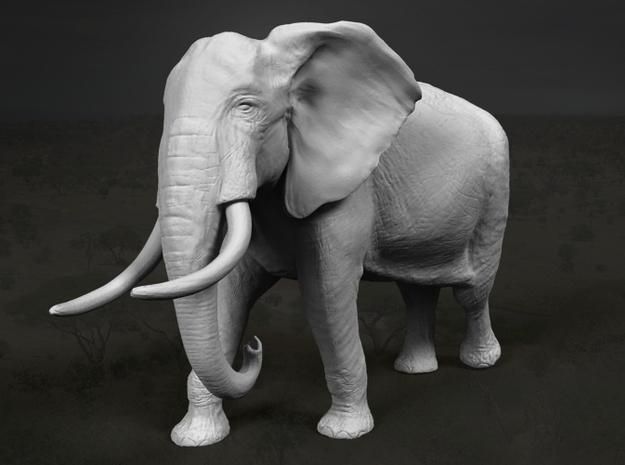 African Bush Elephant 1:87 Walking Male in Frosted Ultra Detail