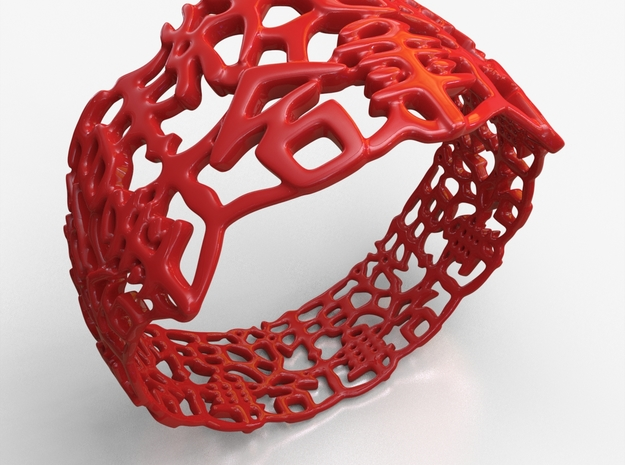 PAN Bracelet D64 RE115s3A10m25M45FR011-plastic in Red Processed Versatile Plastic