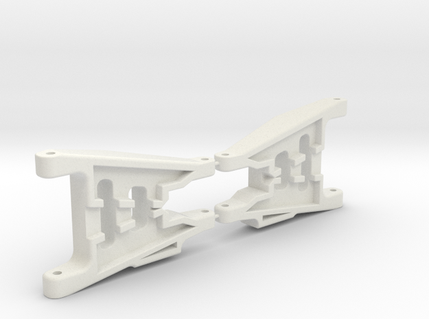 Rear Wide Arms RC10T Style in White Natural Versatile Plastic
