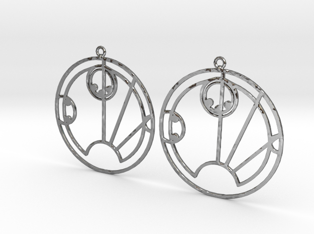 Sally - Earrings - Series 1 in Polished Silver