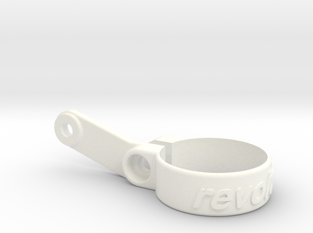 25.4 mm Race Number Attachment in White Processed Versatile Plastic
