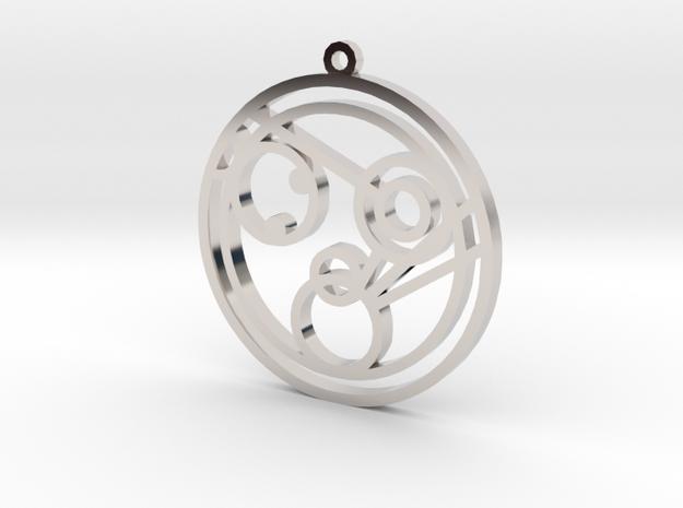 Monica - Necklace in Rhodium Plated Brass