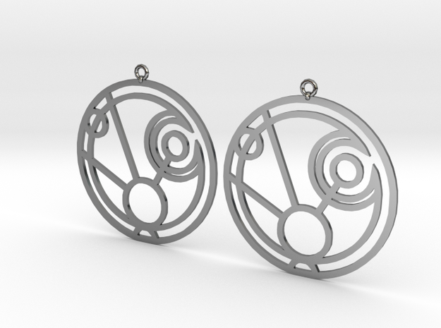 Maggie - Earrings - Series 1 in Fine Detail Polished Silver