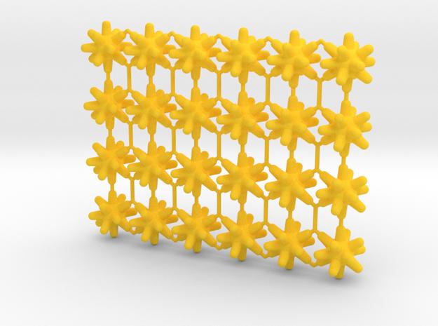 Pandemic Disease Tokens - Type 01 (24 pcs) in Yellow Processed Versatile Plastic