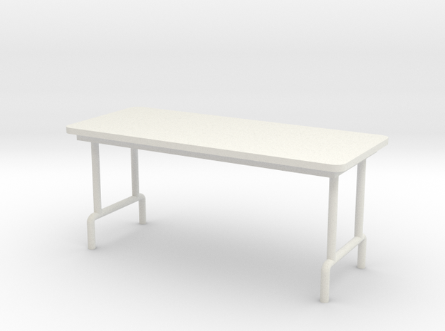 1:24 Scale Folding Table in White Natural Versatile Plastic