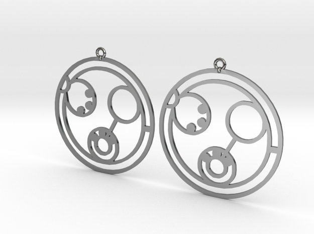Linda - Earrings - Series 1 in Fine Detail Polished Silver