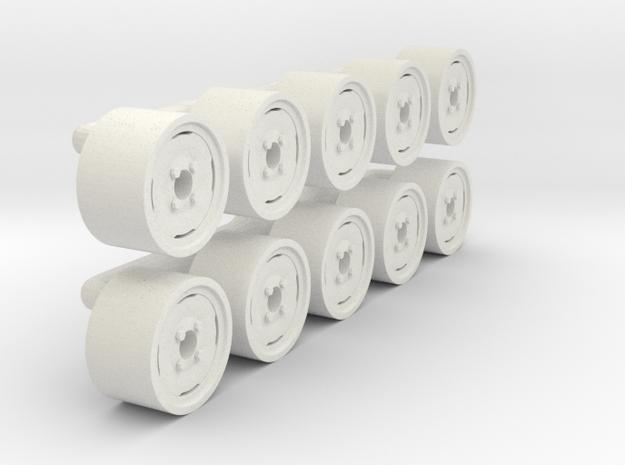 "1/64 14"" Implement Wheel in White Natural Versatile Plastic"