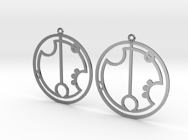 Greta - Earrings - Series 1 in Fine Detail Polished Silver