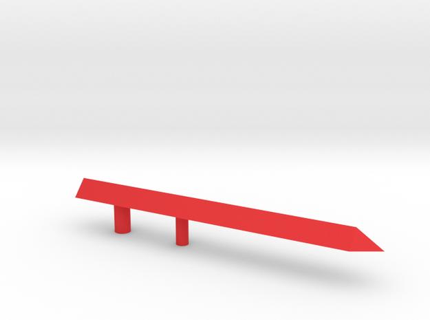 NEEDLE2 in Red Processed Versatile Plastic
