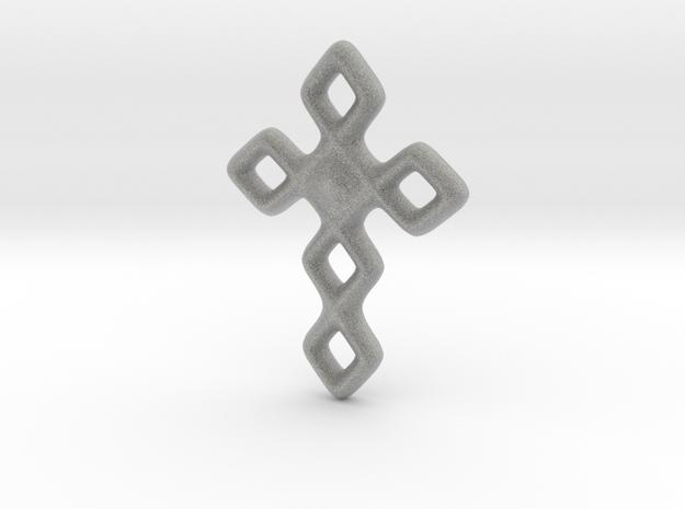 Cross necklace in Metallic Plastic