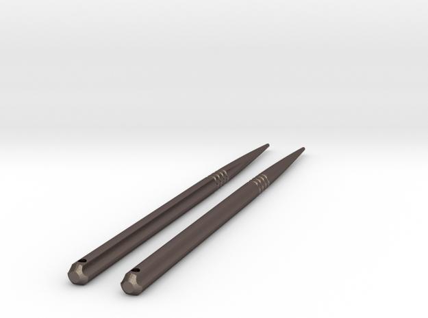 ChopSticks in Polished Bronzed Silver Steel