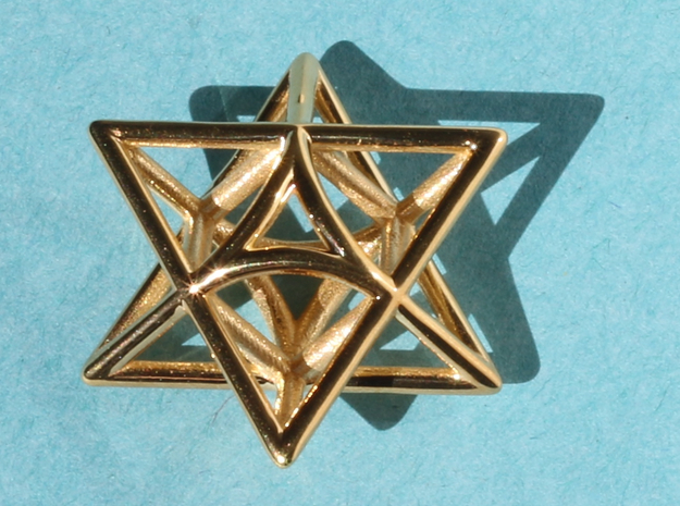 Star Pendant #3 in 18K Gold Plated