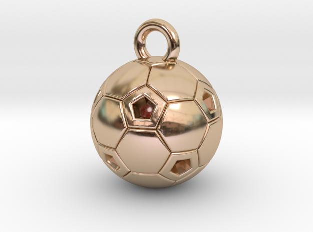 SOCCER BALL C in 14k Rose Gold Plated Brass