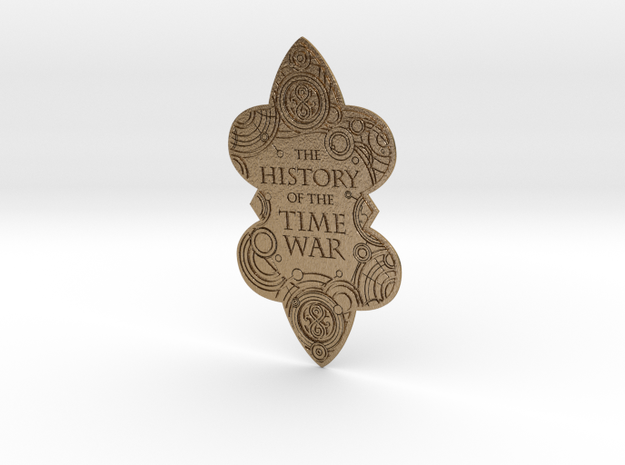 The History of the Time War book plate in Polished Gold Steel