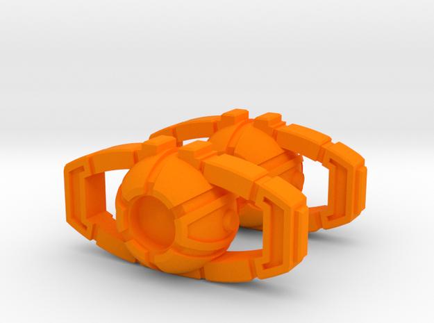 MP-10/MP-22 Matrix for use with Flat Back Stones in Orange Processed Versatile Plastic