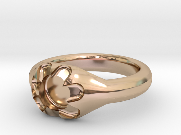 Scalloped Ring (size 7.5) 3d printed