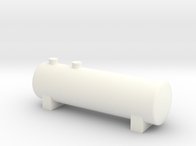 N Scale Fuel Storage Tank in White Processed Versatile Plastic