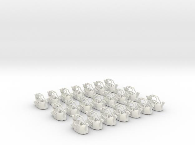 Gondelsatz Tristar für 1:87 (H0 scale) in White Natural Versatile Plastic