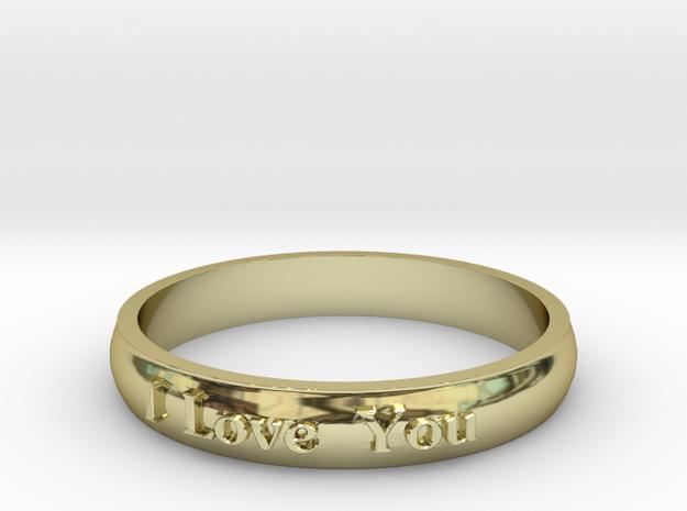 "Ring 'I Love You' - 16.5cm / 0.65"" - Size 6 in 18k Gold"