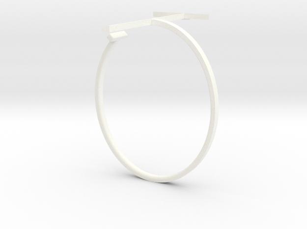 a r c h i t e c t s series - Bracelet T-Square in White Processed Versatile Plastic