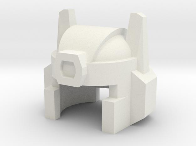 Robohelmet: Close-up in White Natural Versatile Plastic