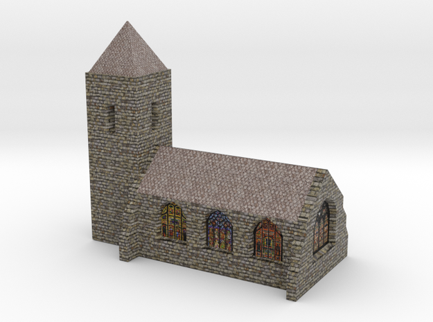 Church (Textured)  3d printed