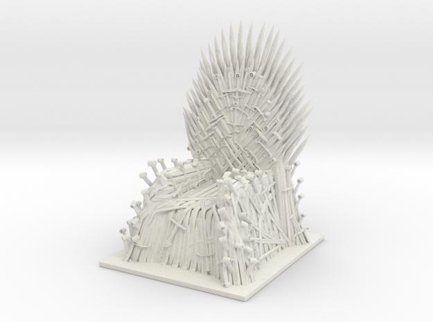 Iron Throne in White Strong & Flexible