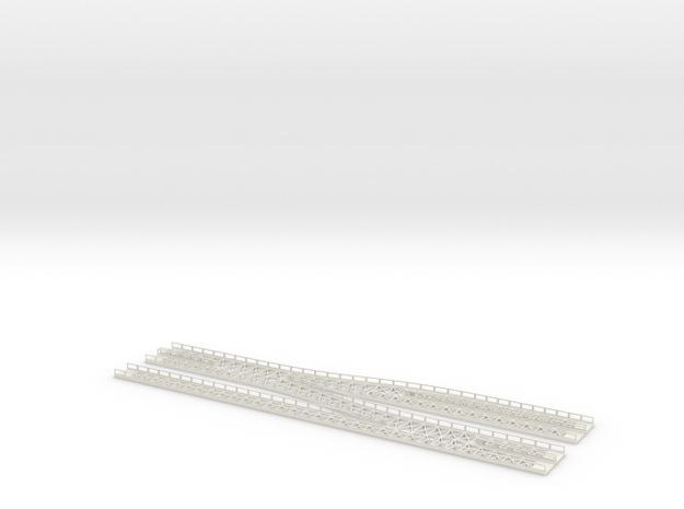 Dammtor Throat With Railings in White Natural Versatile Plastic