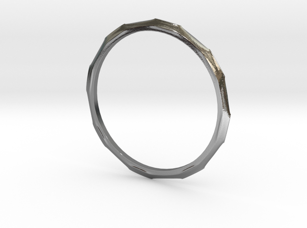 """Ring 'Industrial' - 16.5cm / 0.65"""" - Size 6 in Polished Silver"""