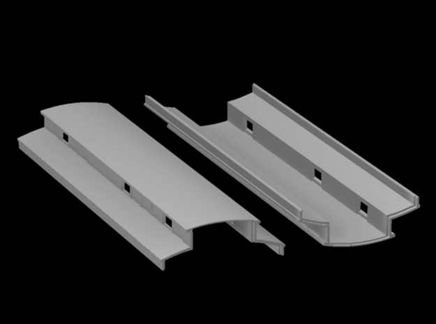 Sn3 coach roof middle combine in Smooth Fine Detail Plastic