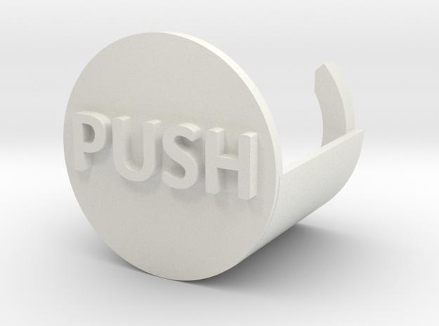 Push To Start Shower in White Strong & Flexible