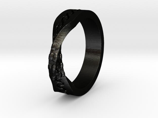 Infinity Wedding Band in Matte Black Steel