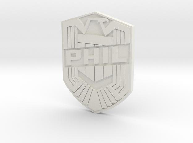 Phil Badge (custom) 3d printed