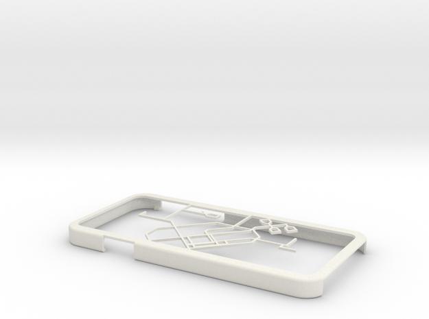 Singapore MRT network map iPhone 6 case in White Natural Versatile Plastic