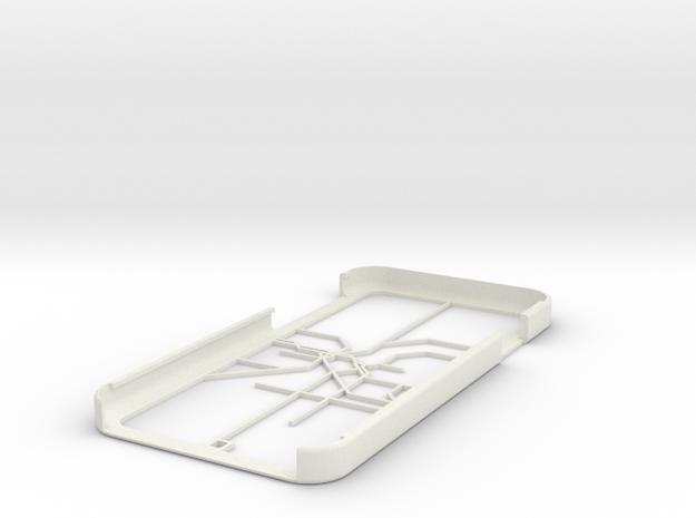LA Metro Rail map iPhone 6 case in White Natural Versatile Plastic