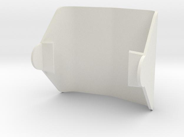 Camera Visor in White Natural Versatile Plastic